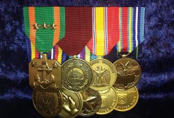 Flat Mounted Large Medal Sets