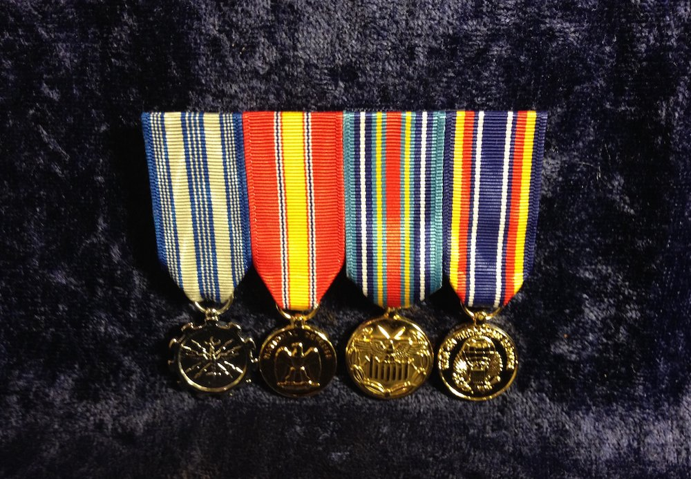 Flat Mounted Anodized Mini Medal Sets - The Sharp Image