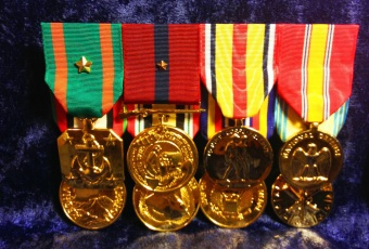 Flat Mounted Anodized Large Medal Sets